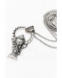 Urban Outfitters - Metallic Ganesh Pendant in Silver - Lyst
