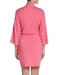 Josie Natori - Pink Jersey Knit Wrap Robe - Lyst