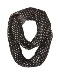 Calvin Klein | Black Brick Stitch Metallic Infinity Scarf | Lyst