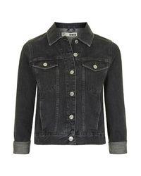 TOPSHOP   Moto Black Ecru Western Jacket   Lyst