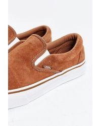 Vans - Brown Classic Suede Slip-on Sneaker for Men - Lyst