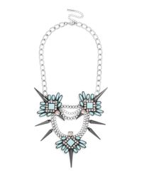 BaubleBar - Blue Spiked Lily Necklace - Lyst