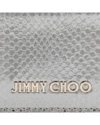 Jimmy Choo - Umika Acid Yellow Mix Metallic Elaphe And Metallic Karung Card Holder - Lyst