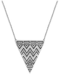 House of Harlow 1960 | Metallic Pavé Tribal Triangle Pendant Necklace | Lyst