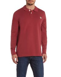 Paul Smith - Purple Zebra Longsleeve Regular Fit Polo Shirt for Men - Lyst