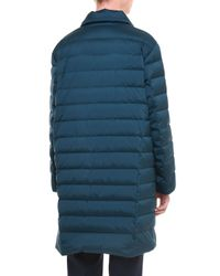 Jil Sander - Blue Spread-collar Zip-front Puffer Coat - Lyst