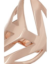 Arme De L'Amour - Metallic Set Of Four Rose Gold-plated Rings - Lyst
