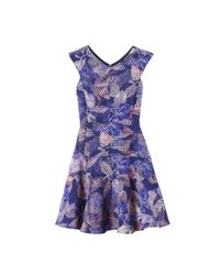 Rebecca Taylor | Purple Sonic Garden V-neck Dress | Lyst