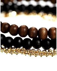 ASOS | Metallic Necklace and Bracelet Pack with Rosary for Men | Lyst
