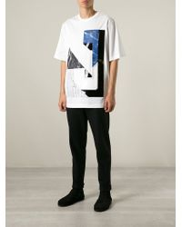 Juun.J - White Printed And Embroidered Logo T-Shirt for Men - Lyst