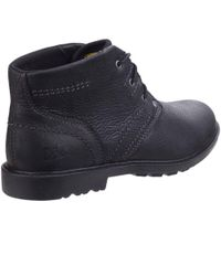 Caterpillar - Black Carsen Mid Pebble Mens Lace-up Boot for Men - Lyst