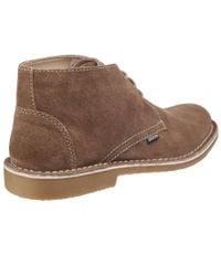 Lambretta - Natural Carnaby 2 Mens Suede Desert Boots for Men - Lyst