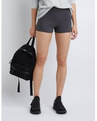 Charlotte Russe - Gray High-rise Bike Shorts - Lyst