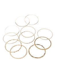 Charlotte Russe - Metallic Crystal & Textured Bangles - Lyst