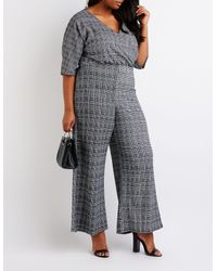 fc76969f475 Lyst - Charlotte Russe Plus Size Wrap Jumpsuit in Gray