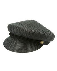 b9cd7fdca4b6b0 Lyst - Charlotte Russe Straw Fisherman Hat in Black for Men