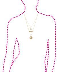 "Charlotte Russe - Metallic ""capricorn"" Astrology Necklace & Earrings Set - Lyst"