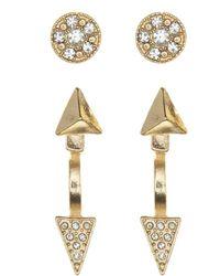 Charlotte Russe - Metallic Edgy Embellished Stud Earrings - 6 Pack - Lyst