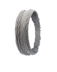 Charlotte Russe - Gray Cable Knit Head Wrap - Lyst