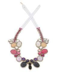 Doloris Petunia | Multicolor Color Fade Seurat Necklace, Plum | Lyst