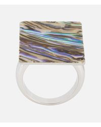 Christopher Kane - Multicolor Mother Of Pearl Ring - Lyst