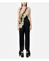 Christopher Kane - Black High Waisted Satin Trousers - Lyst