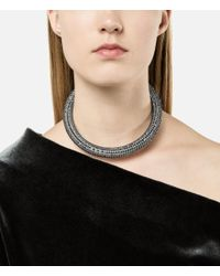 Christopher Kane - Metallic Slim Bolster Necklace - Lyst