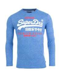 Superdry - Blue Duo Long Sleeve Top for Men - Lyst