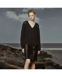 Club Monaco - Black Maritza Knit Sweater - Lyst