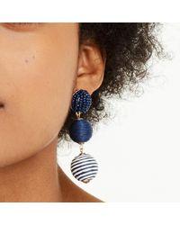 Club Monaco - Blue Bauble Stripe Earring - Lyst