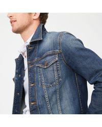 Club Monaco - Blue Denim Jacket for Men - Lyst
