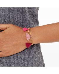 Club Monaco - Pink Tassel Bracelet - Lyst