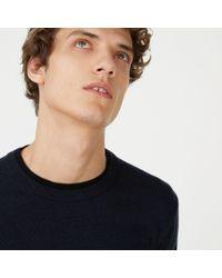 Club Monaco - Blue Merino Double-collar Sweater for Men - Lyst