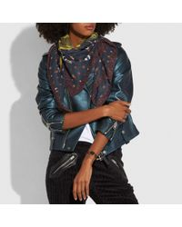 COACH - Black Rexy Patchwork Oversized Square - Lyst