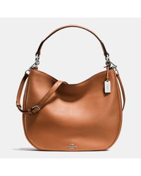 COACH | Brown Nomad Hobo In Glovetanned Leather | Lyst