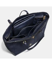 COACH | Blue Turnlock Baby Bag In Crossgrain Leather | Lyst