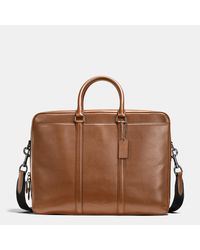 COACH | Brown Metropolitan Commuter In Sport Calf Leather for Men | Lyst