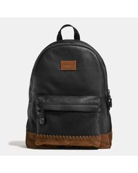 COACH   Black Rip And Repair Campus Backpack In Polished Pebble Leather for Men   Lyst