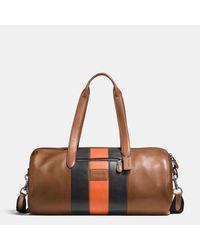 COACH | Brown Metropolitan Soft Gym Bag In Varsity Stripe Sport Calf Leather for Men | Lyst