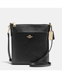COACH | Black Courier Crossbody In Crossgrain Leather | Lyst