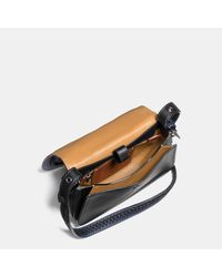 COACH - Black Saddle 23 In Glovetanned Leather With Western Whiplash Detail - Lyst