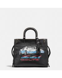 COACH | Black Rogue In Glovetanned Leather With Car Embellishment | Lyst