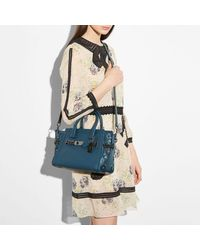 COACH - Multicolor Swagger 27 In Glovetanned Leather With Willow Floral Detail - Lyst