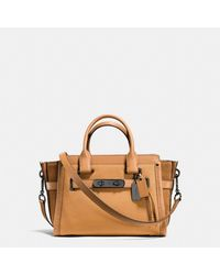 COACH | Brown Swagger 27 In Mixed Leathers | Lyst