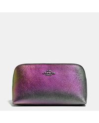 COACH | Purple Hologram Cosmetic Case | Lyst