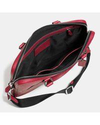COACH | Green Hudson 5 Bag In Crossgrain Leather for Men | Lyst