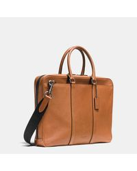 COACH | Brown Metropolitan Slim Brief In Sport Calf Leather for Men | Lyst