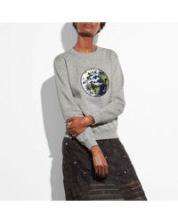 COACH | Gray Planet Sweatshirt | Lyst