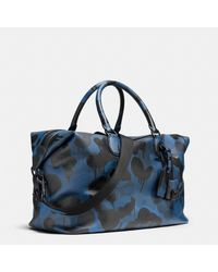 COACH - Multicolor Explorer Duffle In Printed Pebble Leather for Men - Lyst