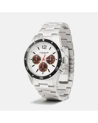 COACH - Metallic Sullivan Sport Stainless Steel Chrono Bracelet Watch - Lyst